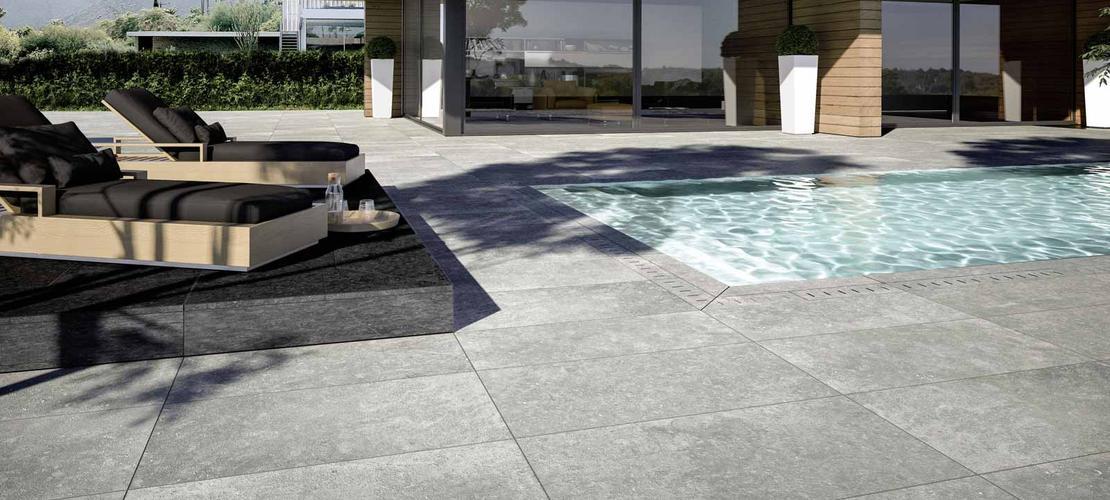 Suelo exterior azulejos gres porcel nico marazzi - Gres porcelanico exterior ...