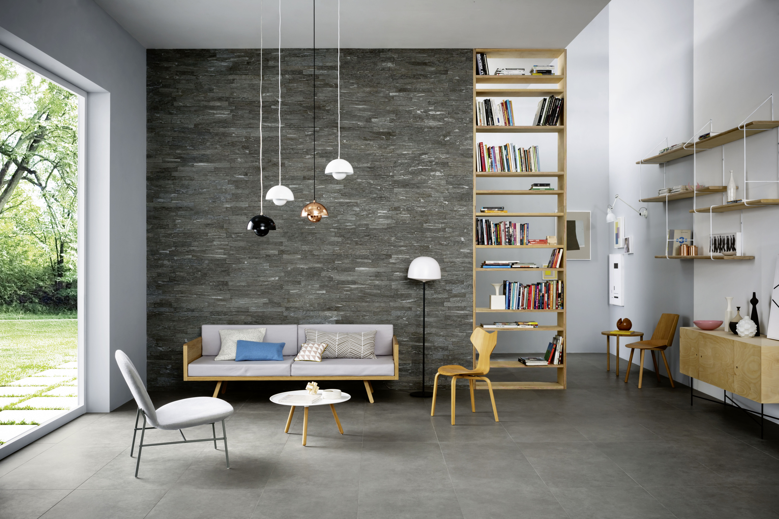 Paredes en piedras para interiores minimal marazzi - Paredes de piedra interiores ...