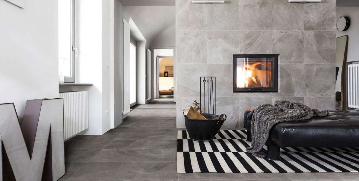 Mystone Ardesia.  Stone architecture and inspiration from ancient buildings, for interiors in contemporary style