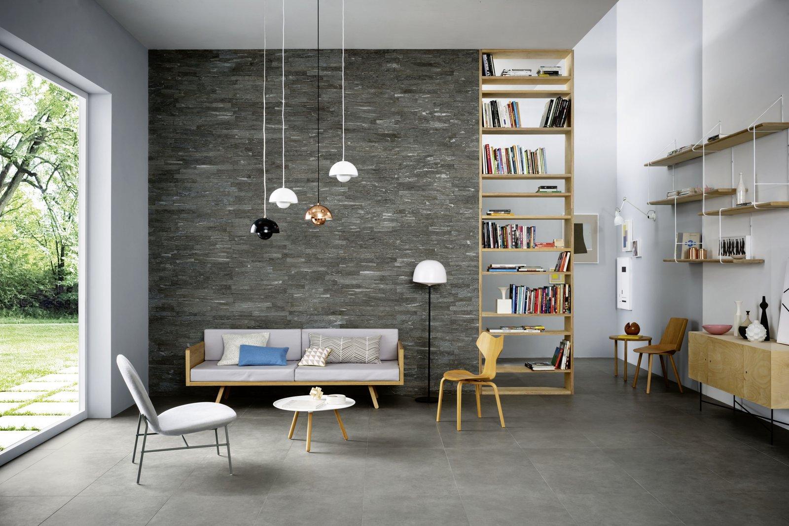 Pareti Soggiorno Verdi : Paredes en piedras para interiores minimal marazzi
