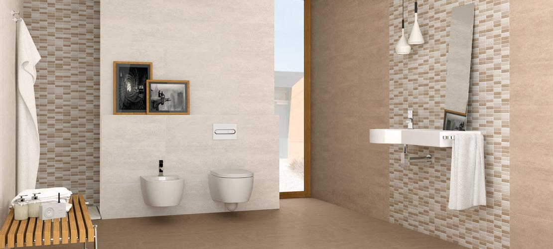 Serpal pisos en porcelanato efecto cemento blanco marazzi - Ceramicas para el bano ...
