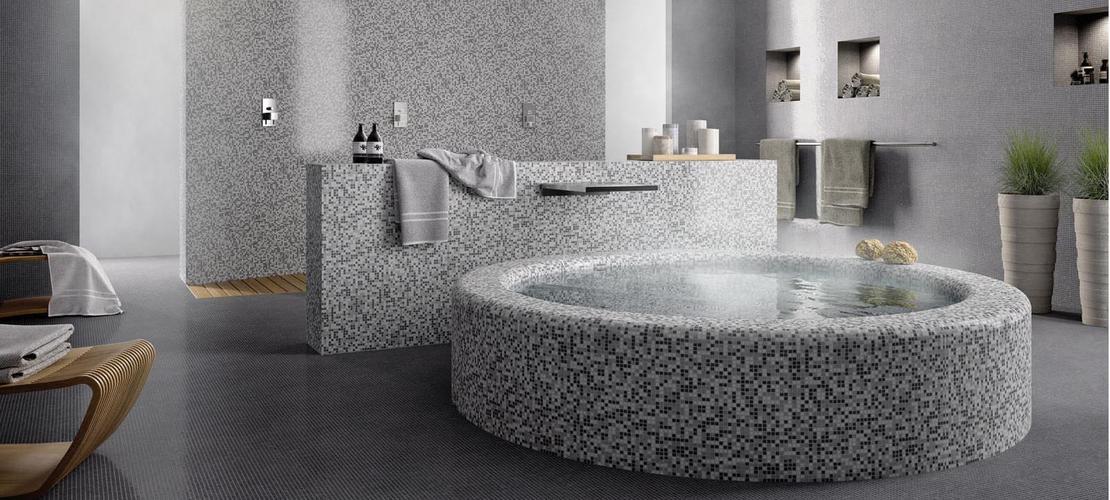 Azulejos Baño Tipo Mosaico:Ceramic Glass Mosaic Tile