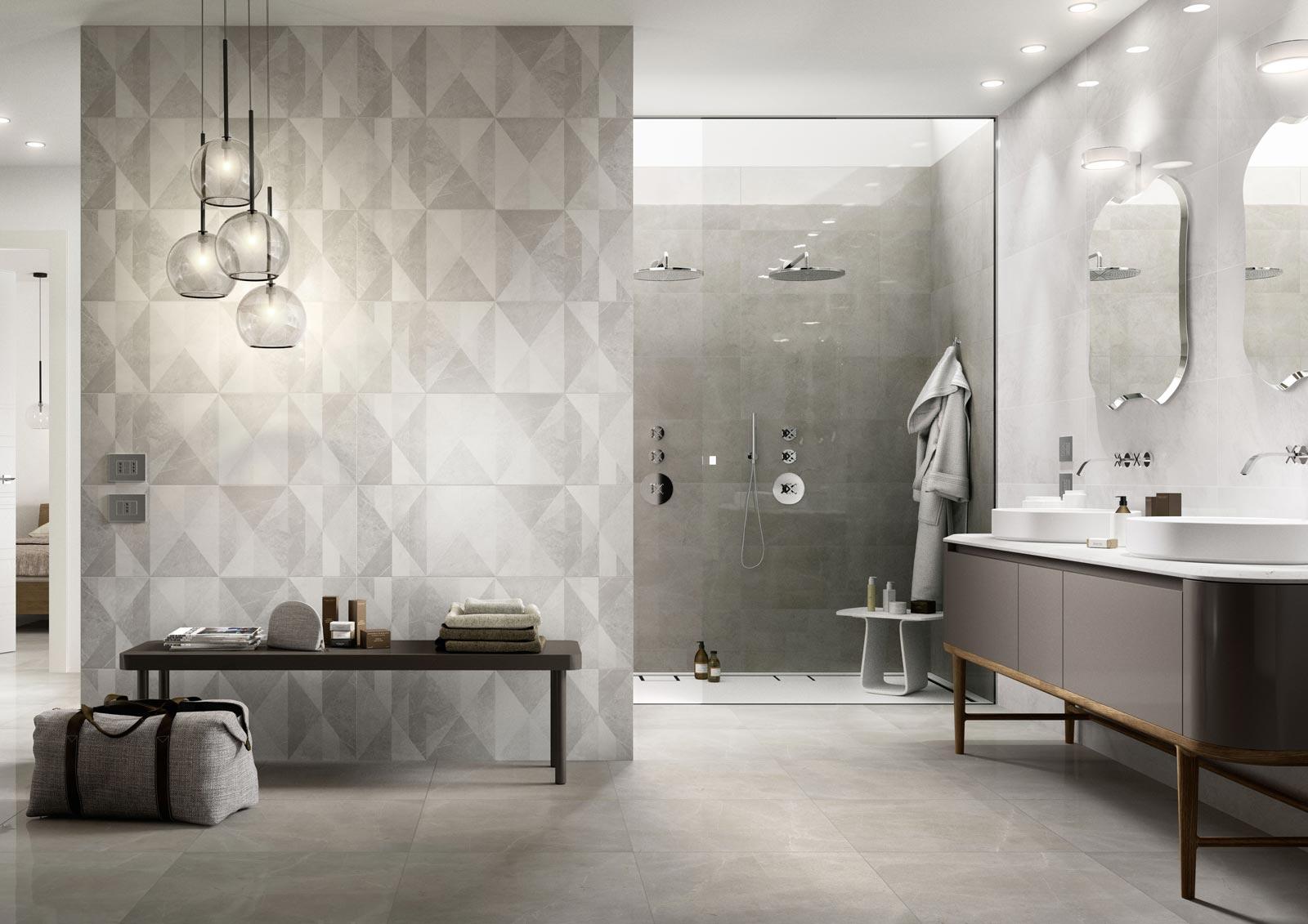 Azulejos cuarto de ba o cer mica y porcel nico marazzi for Utensilios cuarto de bano
