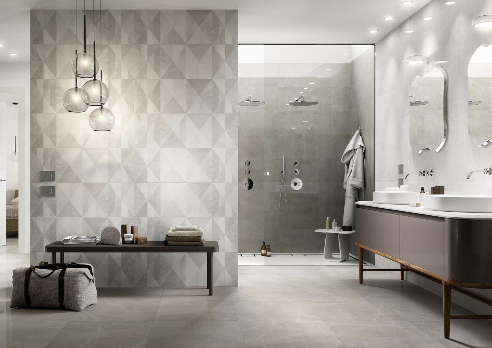 Azulejos cuarto de ba o cer mica y porcel nico marazzi for Ceramica para cuartos