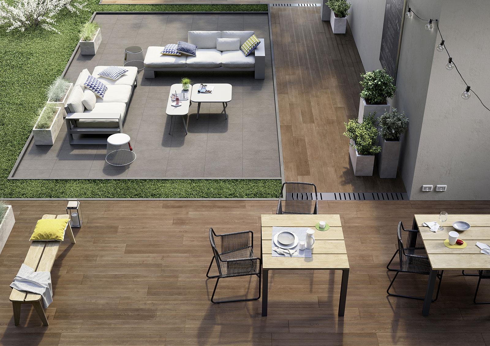 Treverktime gres imitaci n madera para pavimento marazzi - Pavimento imitacion madera ...