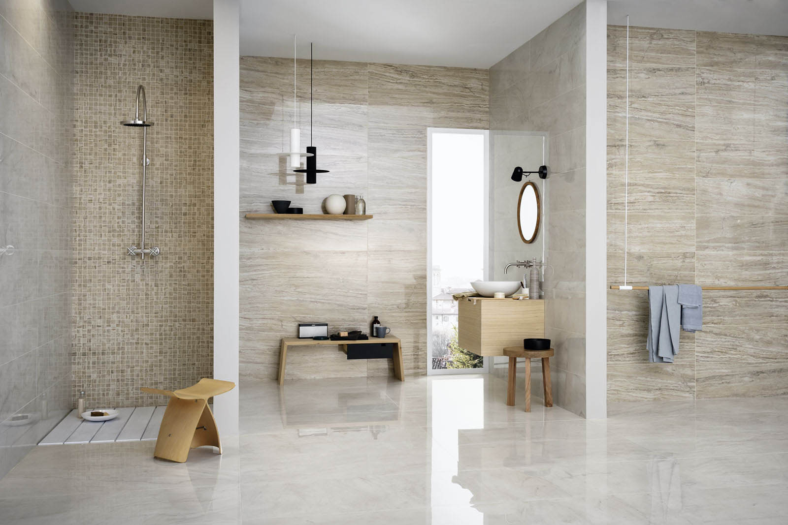 Baño Turco Domestico:Ceramic Tile Bathroom