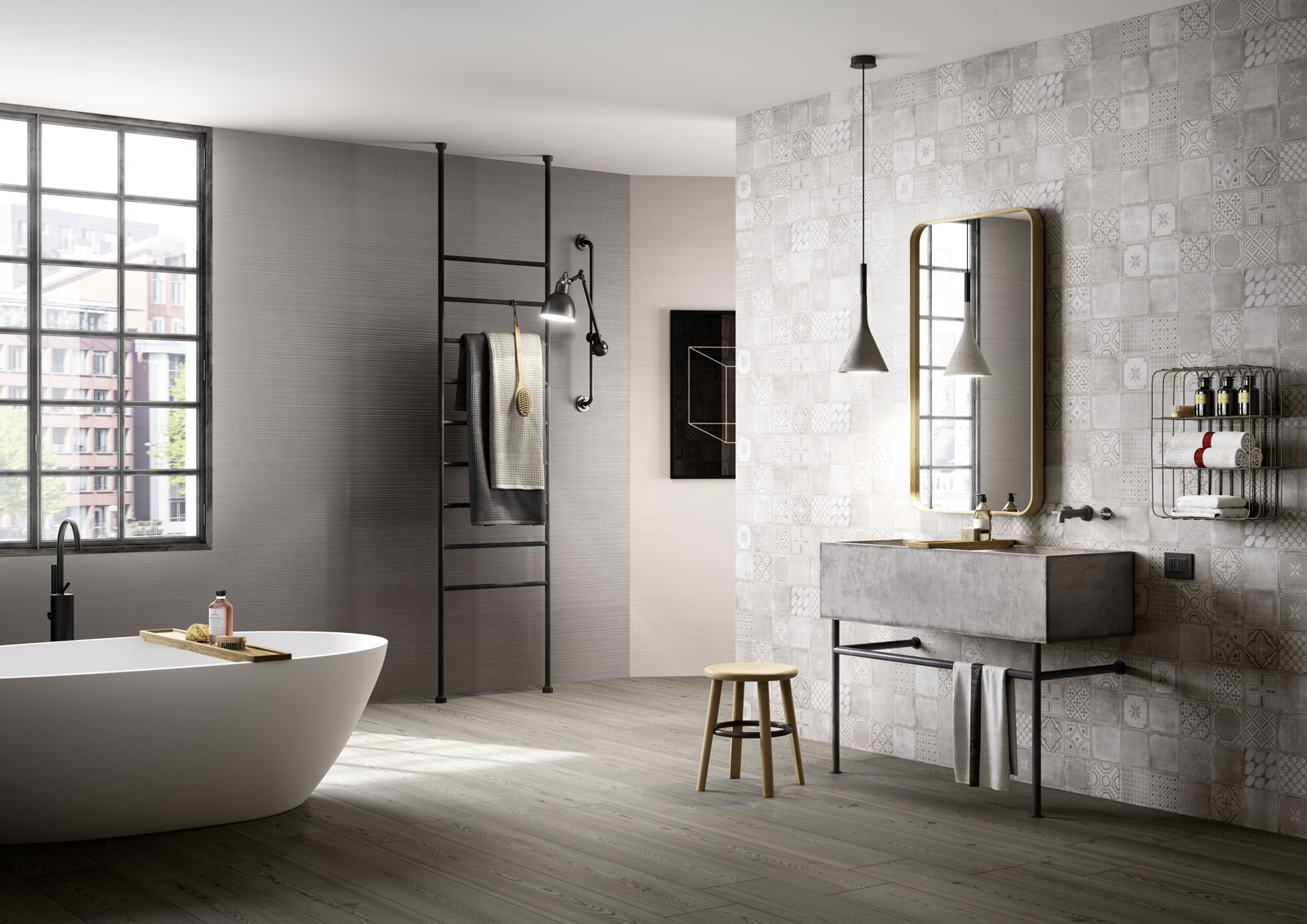Baños Azulejos Beige:Marazzi Porcelain Tile in Bathrooms