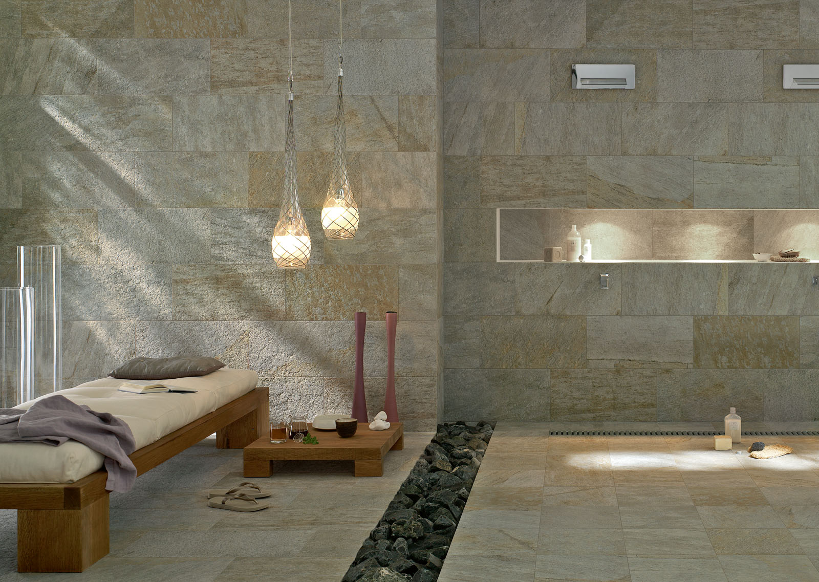Azulejos Baño Saloni:Marazzi Porcelain Tile in Bathrooms