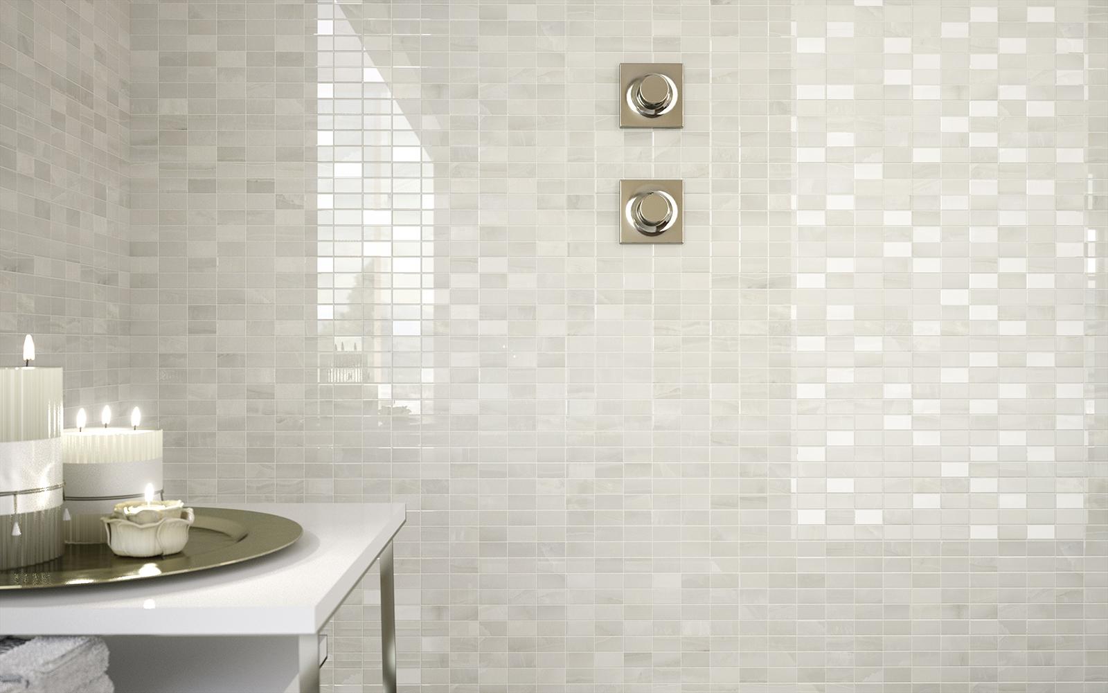 Azulejos ba o imitacion marmol - Bano azulejo blanco ...