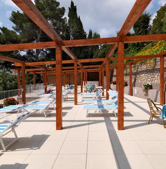 "Solarium del hotel ""Villa Brunella"", Capri"
